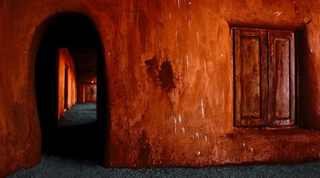 Adobe house in Mexico