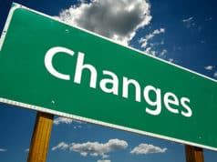 "Sign that says ""Changes"""