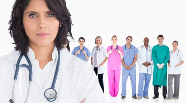 Group of health professionals