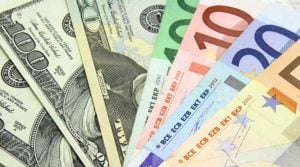 Image of euros and dollars