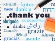 """Thank you"" in different languages"