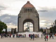 Monument to the Revolution in Plaza de la Republica in Mexico City