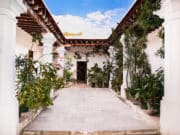 Traditional house with indoor garden in Oaxaca