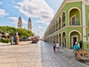 City square in Campeche, Mexico