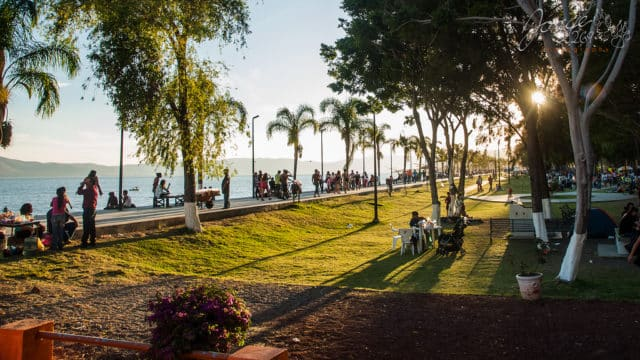 Lake Chapala malecon in Ajijic