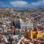 Skyline of Guanajuato City in Mexico