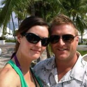 Brent and Erin May at the beach in Huatulco, Mexico