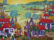 Painting by Ada Colorina of Puerto Vallarta, Mexico