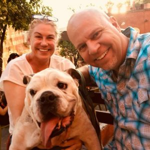 Allison and Todd Nevins with Deuce in Mexico