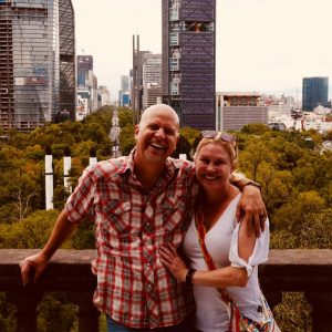 Todd and Allison Nevins in Mexico City