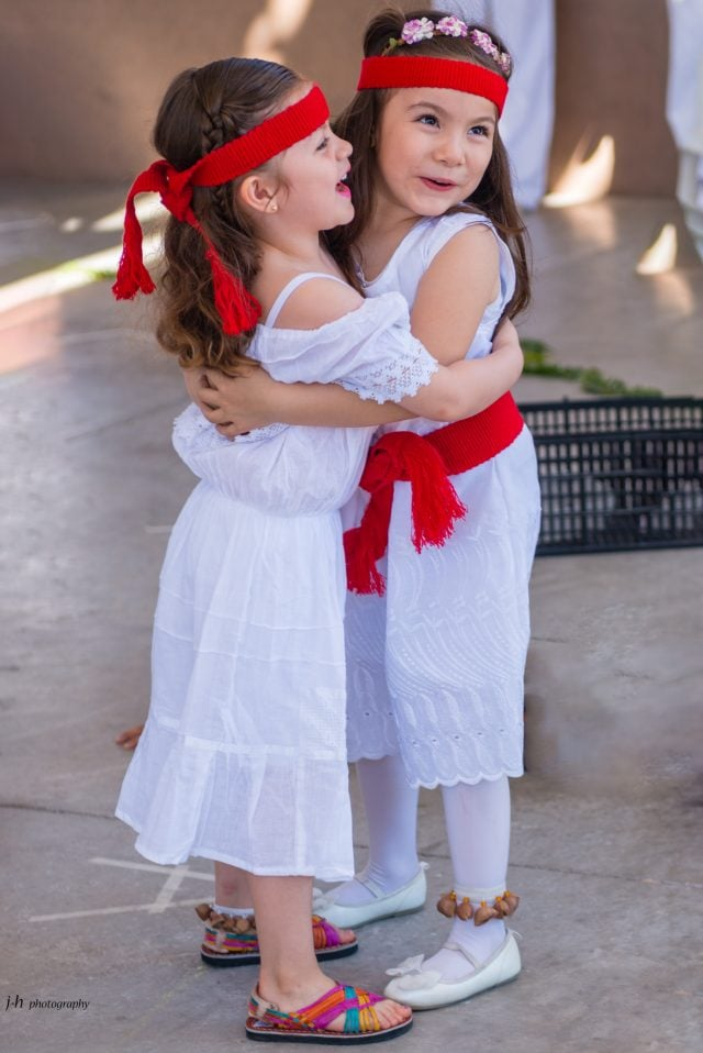 Two young girls in La Paz, Mexico