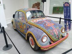 """Vochol"" on display at the Folk Art Museum in Mexico City"