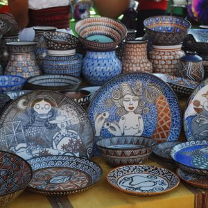 Handcrafted pottery from Michoacán, Mexico