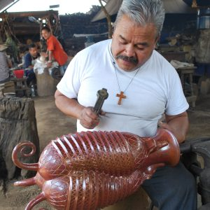 Handcrafted pottery made in Michoacán, Mexico