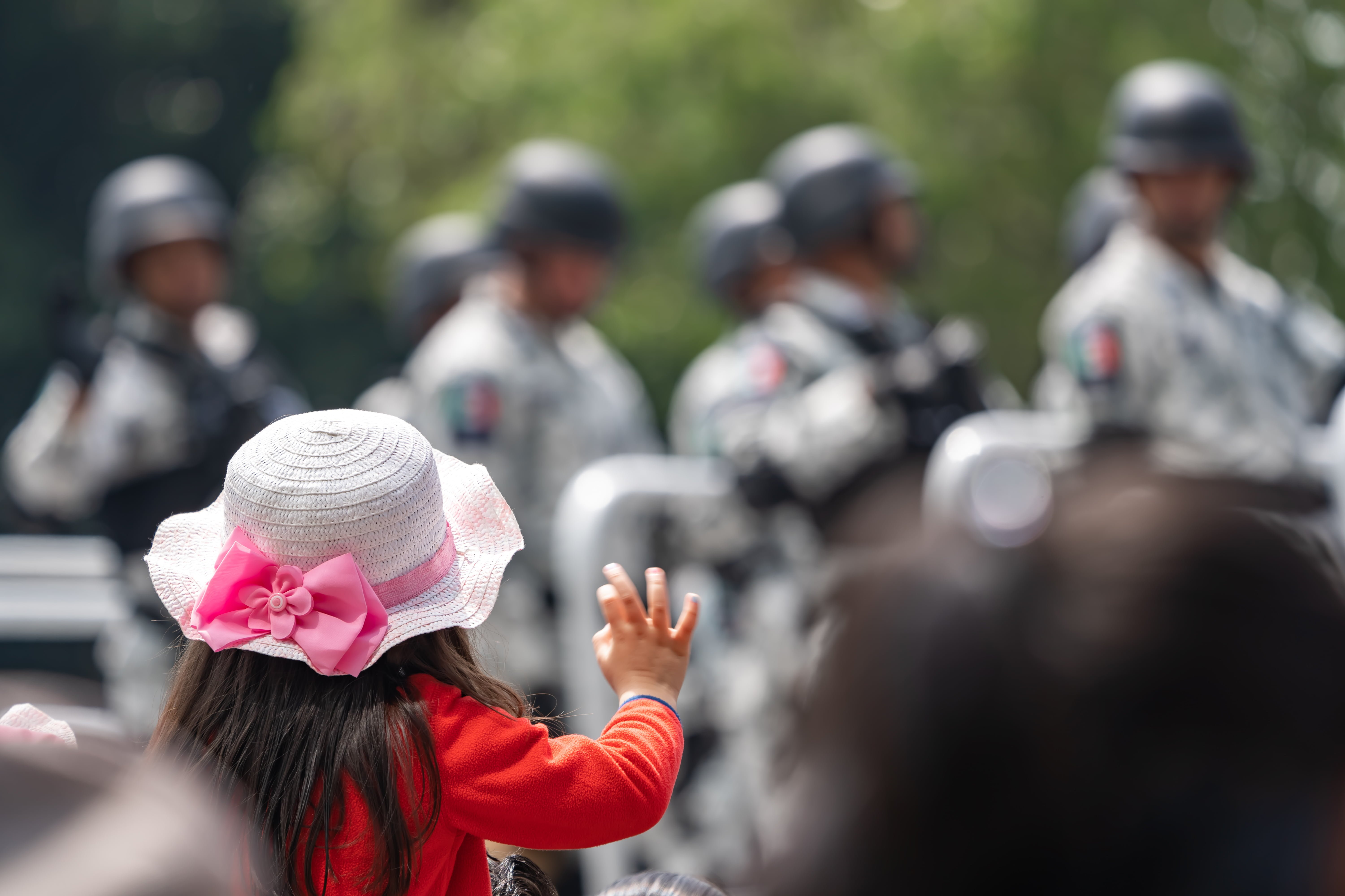 Military day parade in Mexico City, Mexico