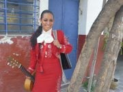 A women from Mariachi band in Tlaquepaque, Mexico